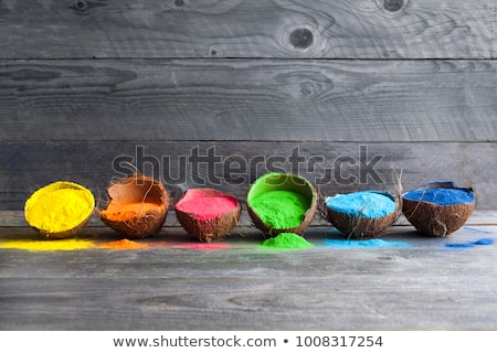 Beautiful background of indian festival with gulal colorful holi stock photo © bharat