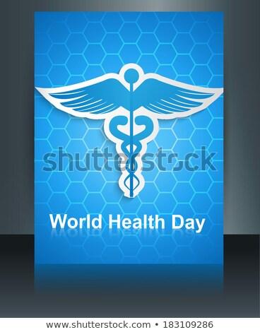 Tıbbi simge renkli broşür yansıma dünya Stok fotoğraf © bharat