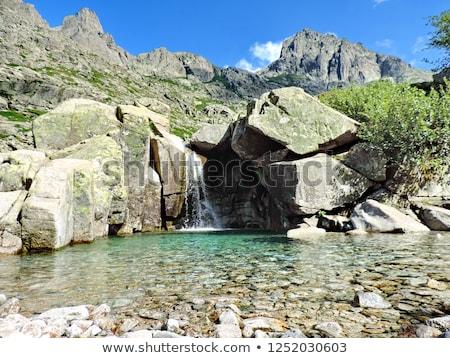 Völgy Korzika természetes vízesések kő víz Stock fotó © Joningall