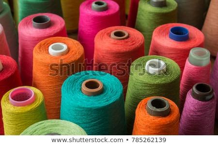 Colorido fio isolado branco textura moda Foto stock © natika