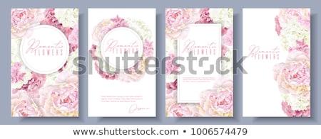 flores · da · primavera · conjunto · cartaz · rosa · folhas · amarelo - foto stock © elenapro