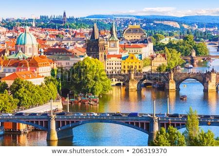 Beautiful view of Prague panorama Stock photo © tannjuska