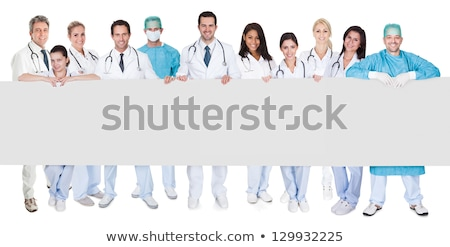 Doctors Presenting Empty Banners Stock photo © Voysla