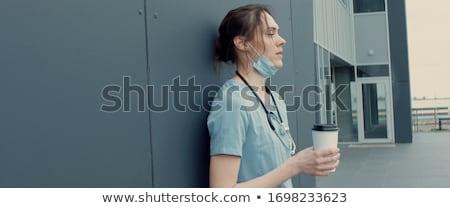 女性 医師 看護 聴診器 周りに 首 ストックフォト © jeffbanke