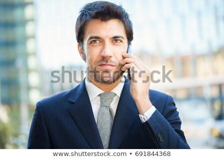 ビジネスマン 話し 携帯電話 見える 技術 ストックフォト © bmonteny