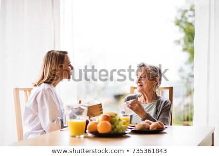 Egészségügy étel egészséges életmód életstílus emberi száj Stock fotó © Lightsource