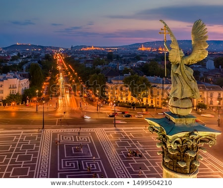 view of heroes square at night stock photo © amok
