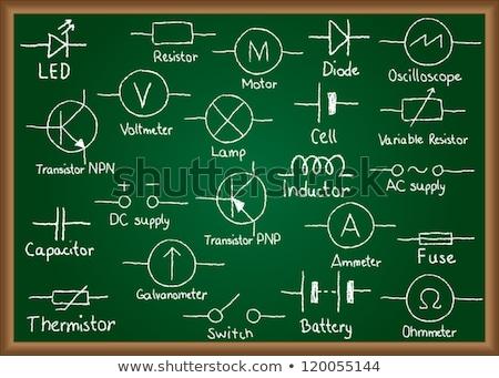 electric circuit schematic on blackboard Stock photo © PixelsAway