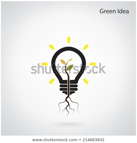 Green and initiative concept. Tree of green idea shoot grow in a Stock photo © chatchai_stocker