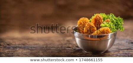 куриные · Салат · древесины · обеда · еды · быстрого · питания - Сток-фото © M-studio