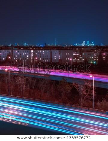 Berlín paisaje urbano noche Alemania ciudad río Foto stock © AndreyKr