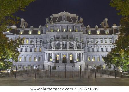 Velho executivo prédio comercial noite Washington DC edifício Foto stock © billperry
