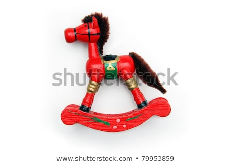Red Christmas ornament pony. Stock photo © justinb