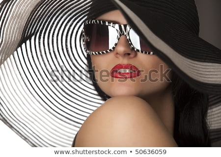 black and white romantic girl in corset Stock photo © fotoduki