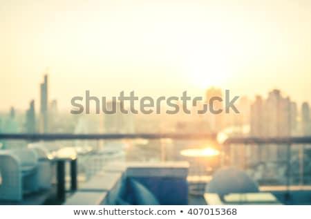 Miasta rano realistyczny bokeh puszka używany Zdjęcia stock © tracer