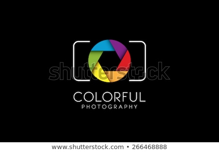 Colorful Shutter aperture background or design element  stock photo © shawlinmohd