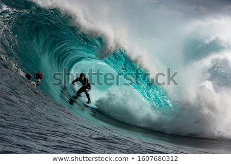 grande · azul · surfe · onda · oceano · natureza - foto stock © sahua