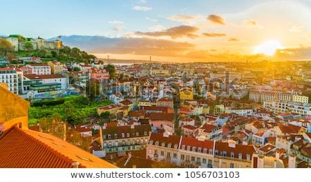 Alfama at sunset, Lisbon Stock photo © joyr