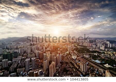 город облака зеленый дороги Китай Сток-фото © tangducminh