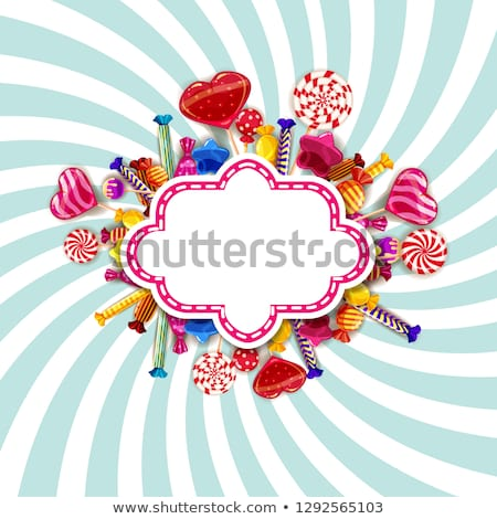 Colorful sweet background with different sprinkles Stock photo © dariazu