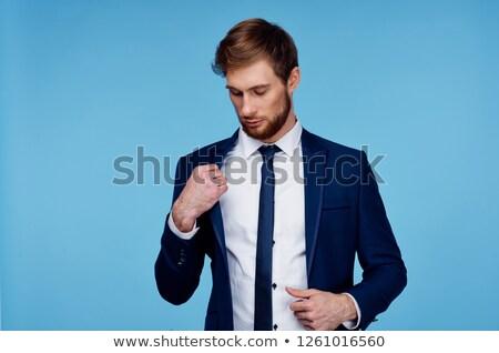 jeunes · élégant · juge · isolé · blanche · homme - photo stock © deandrobot