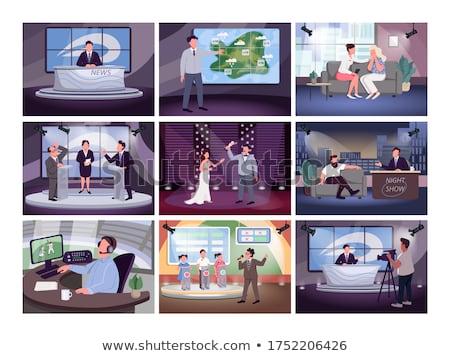 televizyon · konuşma · soyut · teknoloji - stok fotoğraf © mgborhan