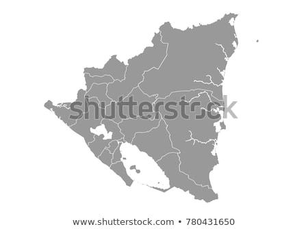 Nicarágua mapa bandeira símbolo branco terra Foto stock © mayboro1964