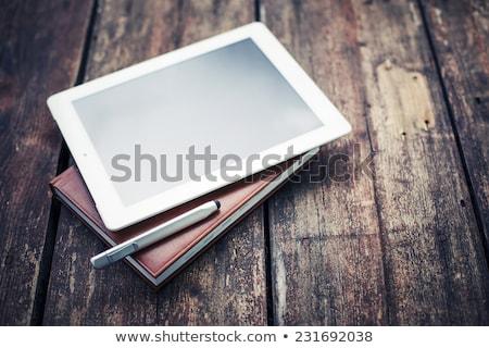 gazete · ahşap · büro · ofis · kahve - stok fotoğraf © zerbor