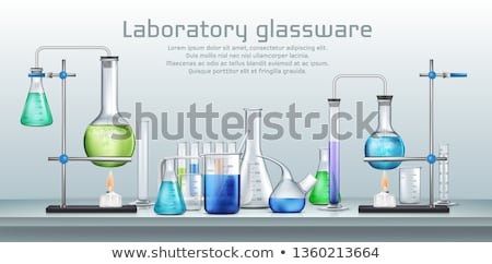 various flasks with reagents  Stock photo © OleksandrO