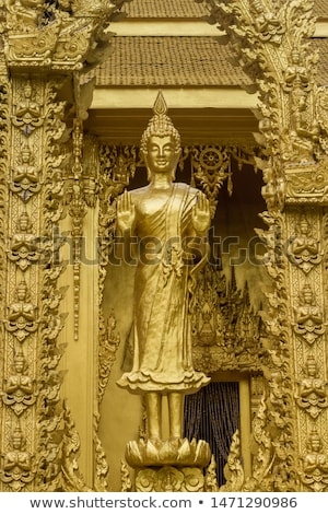 buddha statues at the temple in thailand stock photo © romitasromala