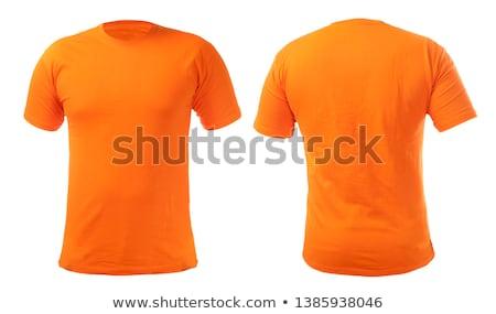 オレンジ Tシャツ 孤立した 白 背景 色 ストックフォト © ozaiachin