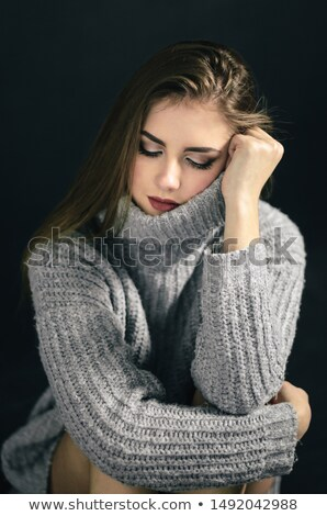 Gorgerous fashion woman holding her hands on her knees  Stock photo © feedough