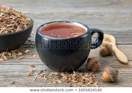 dąb · kory · powierzchnia · mech · naturalnych · tekstury - zdjęcia stock © klinker