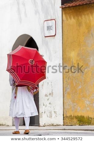 esernyők · égbolt · város · textúra · utca · művészet - stock fotó © smuki