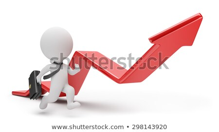 3d small people   pursuit of profit stock photo © anatolym