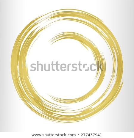 Bronze pincel círculo vetor quadro textura Foto stock © gladiolus
