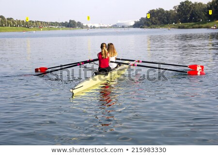 Two Young girls rowers Stock photo © smuki