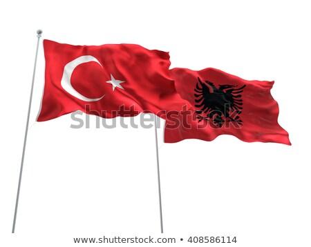 トルコ アルバニア フラグ パズル 孤立した 白 ストックフォト © Istanbul2009