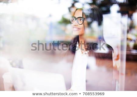 portret · zakenvrouw · haren · kantoor - stockfoto © wavebreak_media