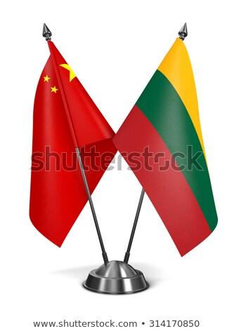 China Lituânia miniatura bandeiras isolado branco Foto stock © tashatuvango