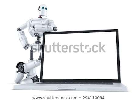 Posing business robot. Technology concept. Contains clipping path Stock photo © Kirill_M