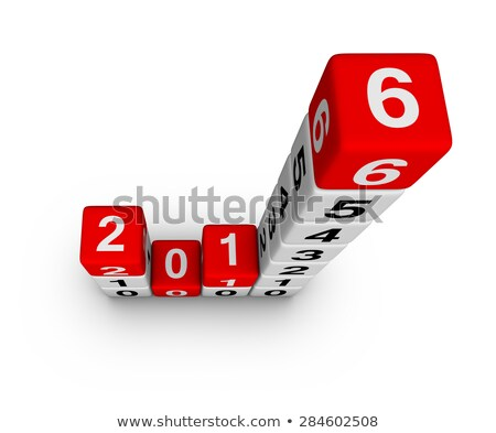 3d new year 2016 in boxes Stock photo © marinini