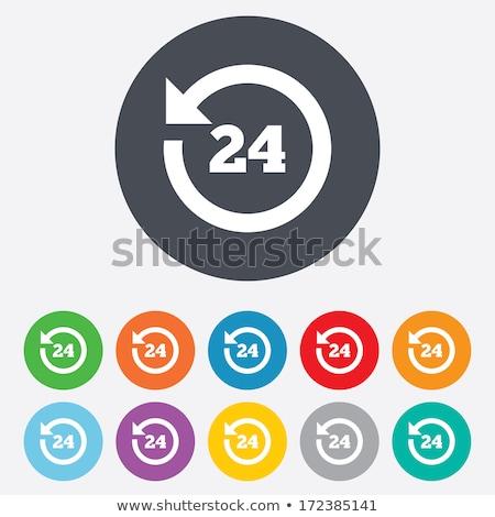 24 Hours Customer Support Yellow Vector Icon Stock photo © rizwanali3d