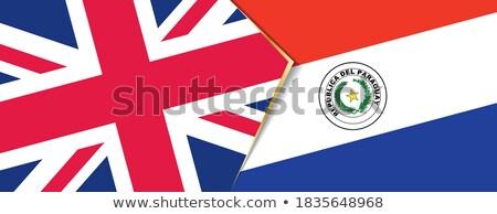 Büyük Britanya Paraguay bayraklar bilmece yalıtılmış beyaz Stok fotoğraf © Istanbul2009