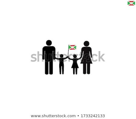 Foto stock: Amor · Burundi · assinar · isolado · branco · bandeira