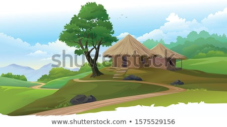 Path to the huts Stock photo © Kotenko
