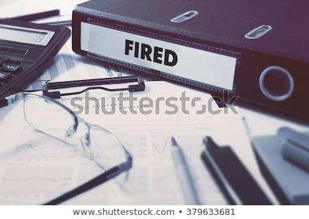 zakenman · vak · woord · geschreven · kantoor - stockfoto © tashatuvango