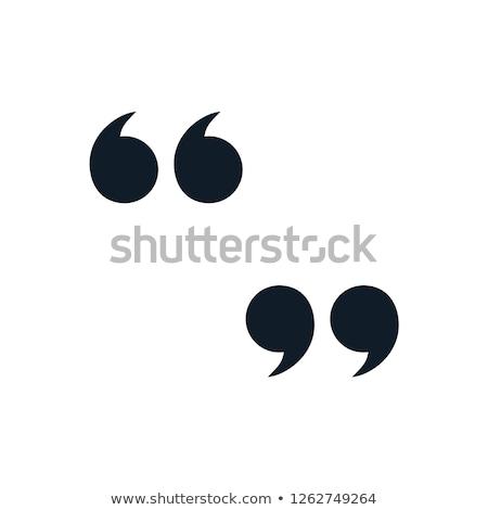 Quotation mark symbol Icon  Stock photo © kiddaikiddee