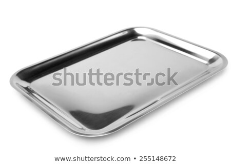 Empty rectangular stainless steel tray Stock photo © ozgur