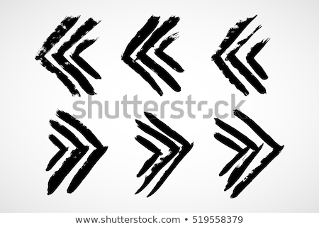 Végtelenített kézzel rajzolt nyilak fenék felfelé irányítás Stock fotó © pakete